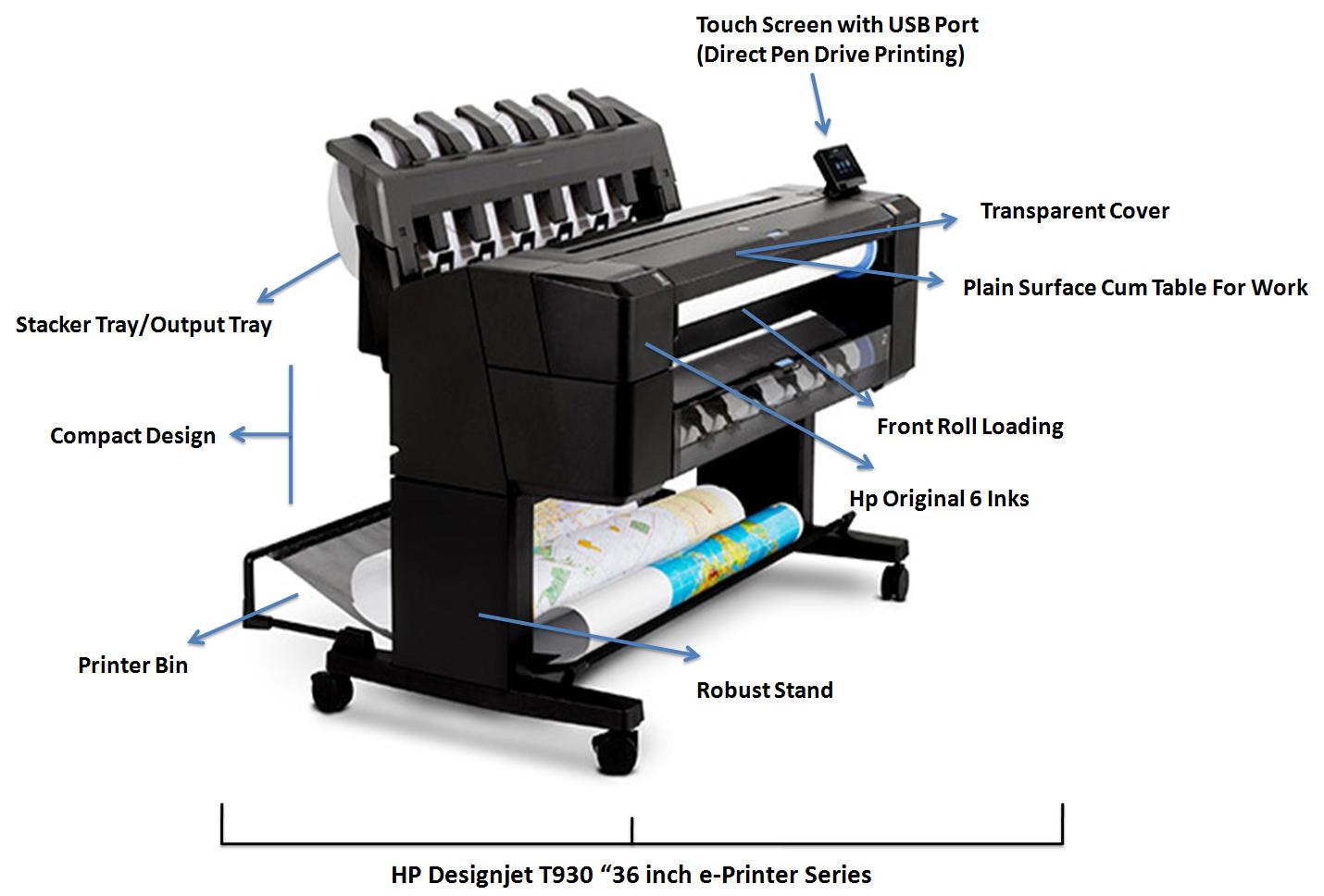 Color printout price in delhi - Hp Designjet T930 Eprinter